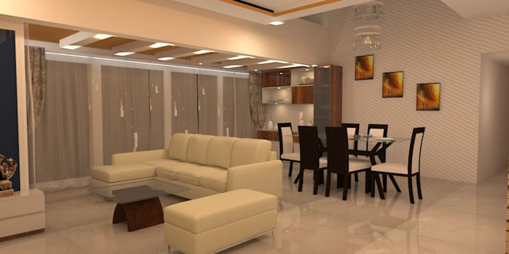 Amanora Park Pune—Pent House: modern Dining room by DECOR DREAMS