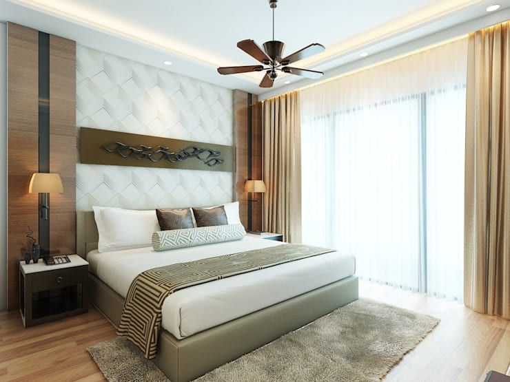 Amanora Park Pune - Pent House: modern Bedroom by DECOR DREAMS