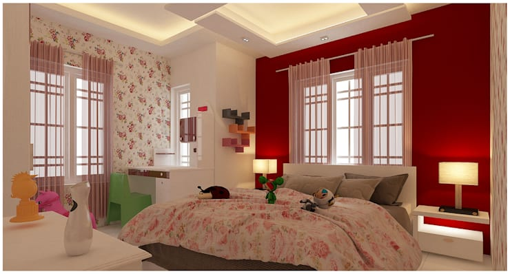 Amanora Park Pune - Pent House:  Nursery/kid's room by DECOR DREAMS