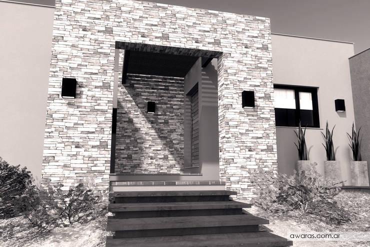 CASA CG | detalle de acceso: Casas de estilo  por áwaras arquitectos,