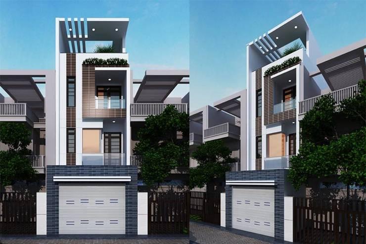 Thiết Kế Nhà Ống 4 Tầng Diện Tích 4x24m Cho Gia Đình 3 Thế Hệ:  Nhà gia đình by Công ty TNHH Xây Dựng TM – DV Song Phát