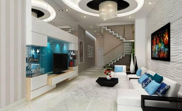Phối cảnh nội thất tầng 1:  Nhà gia đình by Công ty TNHH Xây Dựng TM – DV Song Phát