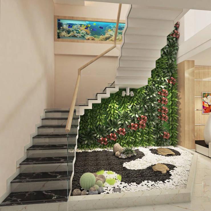 Phối cảnh nội thất tầng 1:  Cầu thang by Công ty TNHH Xây Dựng TM – DV Song Phát