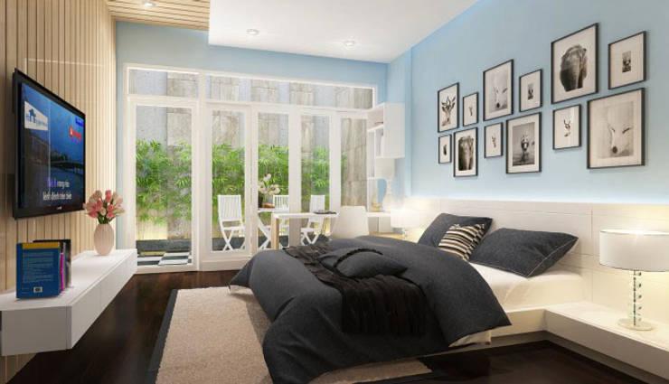 Phối cảnh nội thất tầng 1:  Phòng ngủ by Công ty TNHH Xây Dựng TM – DV Song Phát