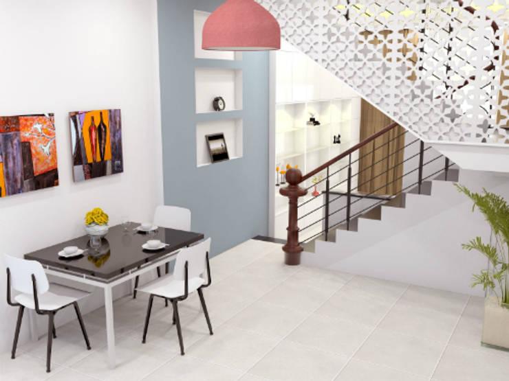 Thiết Kế Nhà Ống 2 Tầng 50m2 Với Chi Phí Tiết Kiệm 500 Triệu:  Phòng ăn by Công ty TNHH Xây Dựng TM – DV Song Phát