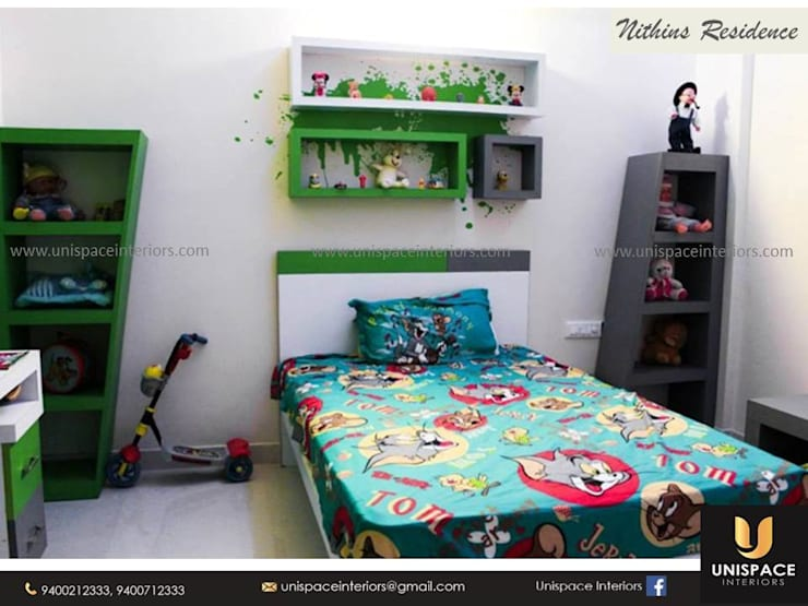 RESIDENCE VILLA APARTMENT INTERIORS -CONTEMPORARY INTERIORS- KIDS ROOM:   by UNISPACE INTERIOR