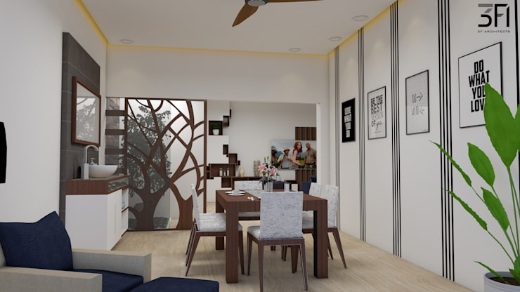 Project:  Dining room by 3F Architects,Modern