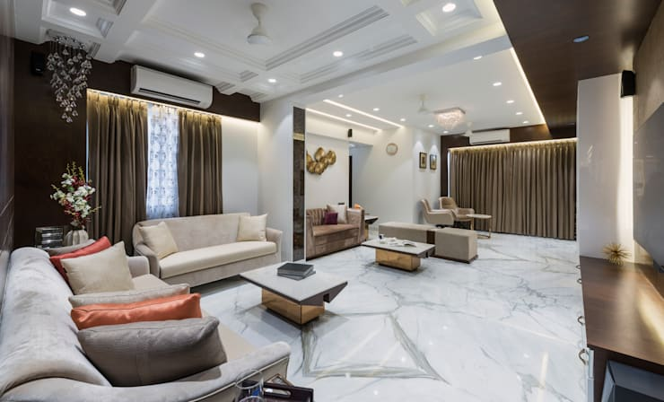 Living room area:  Living room by Tanuja and Associates ,Modern