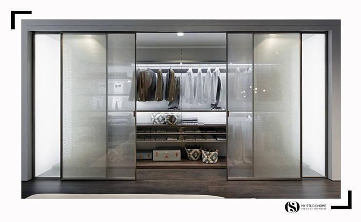 Closet da Zalf: Quarto  por MyStudiohome - Design de Interiores