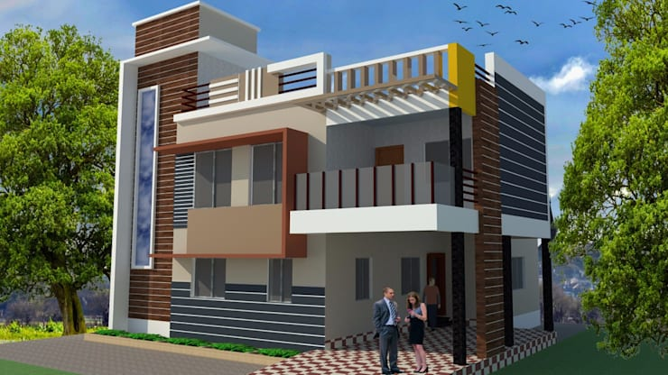 Duplex 5 bhk:  Bungalows by Padhi Housing & Industrial Consultants