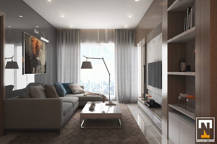 INTERIOR HAKA BOUTIQUE:  Phòng khách by NT.DESIGN
