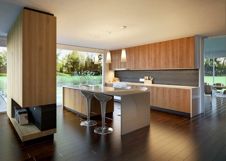 Interiores 3D - 1:  de estilo  por 3dkuviqa studio