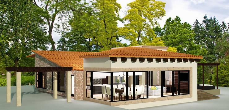 CASA HUICHAPAN: Casas de estilo  por CAXÁ studio