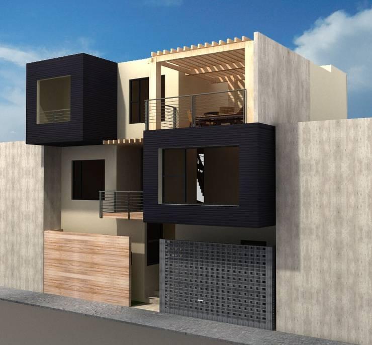 CASA FAMILIA DIAZ: Casas de estilo moderno por CAXÁ studio