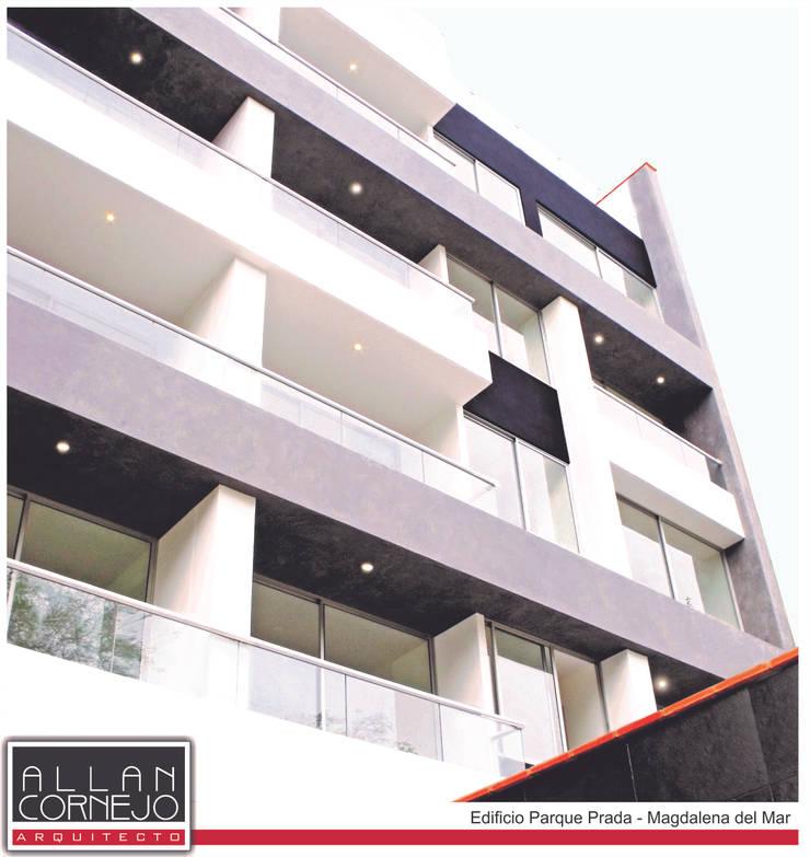 Fachada Terminada: Casas de estilo  por Estudio Allan Cornejo Arquitecto