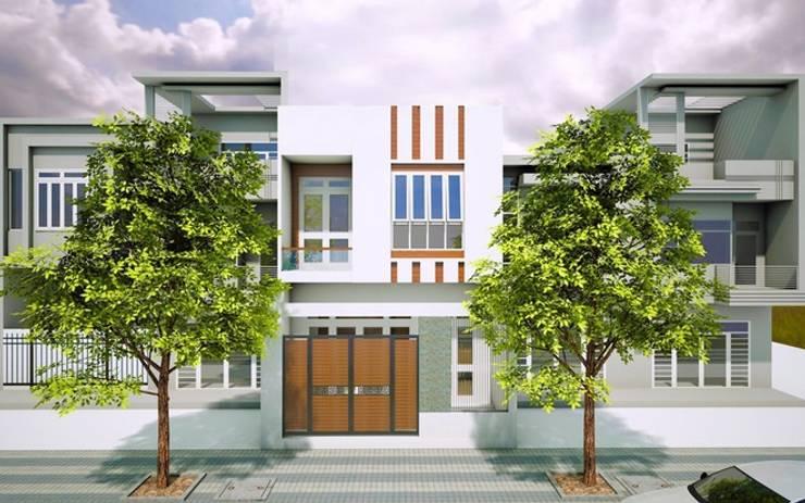 Xây dựng nhà phố 2 tầng diện tích 6x20m hiện đại.:  Nhà gia đình by Công ty TNHH Thiết Kế Xây Dựng Song Phát