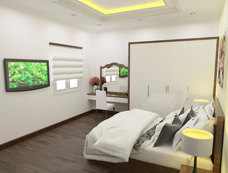 Phòng ngủ là không gian sinh hoạt riêng tư nhất của mối thành viên trong gia đình.:  Phòng ngủ by Công ty TNHH Thiết Kế Xây Dựng Song Phát