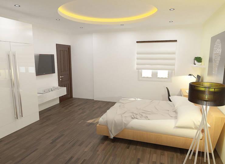 Mỗi phòng ngủ sẽ có những bố trí tùy theo ý thích của mỗi người.:  Phòng ngủ by Công ty TNHH Thiết Kế Xây Dựng Song Phát