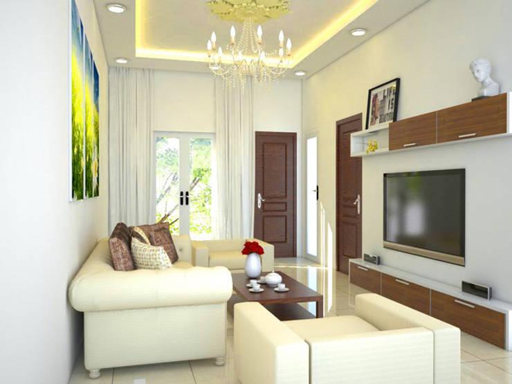 Phòng sinh hoạt chung giữ vai trò quan trọng trong việc gắn kết các thành viên trong nhà.:  Đồ điện tử by Công ty TNHH Thiết Kế Xây Dựng Song Phát