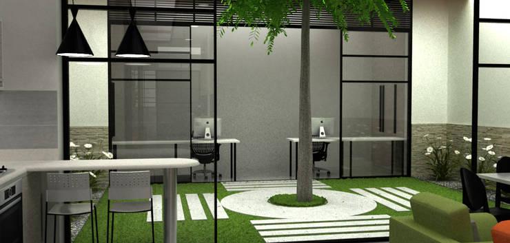 Casa Medianera : Jardines de estilo  por Elizabeth SJ