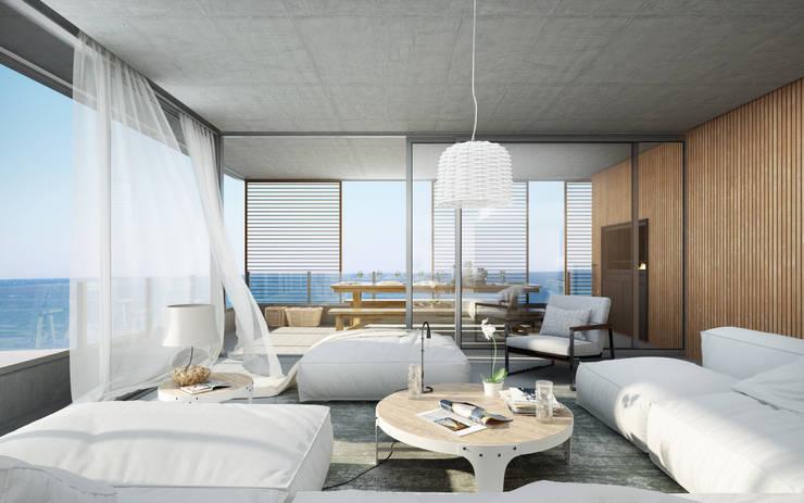 Interiores 3D – 3:  de estilo  por 3dkuviqa studio,