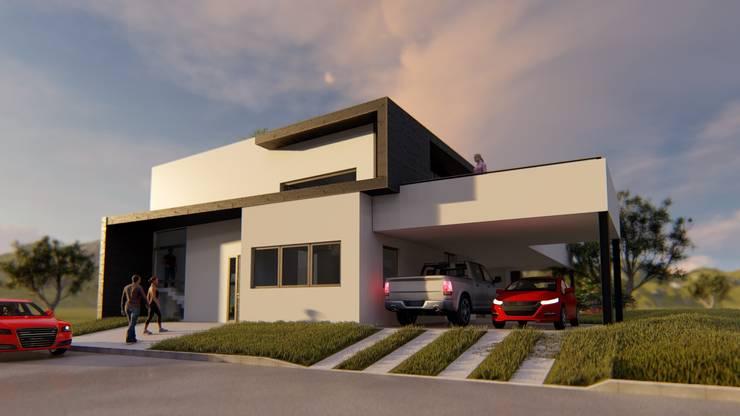 Fachada: Casas de estilo  por Sinapsis Estudio,