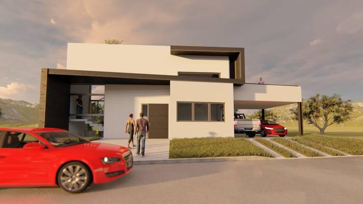 Acceso y Fachada: Casas de estilo  por Sinapsis Estudio,