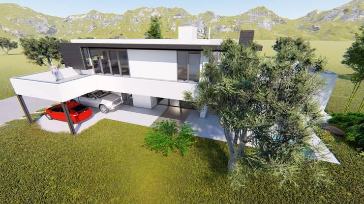 Patio Norte: Casas de estilo  por Sinapsis Estudio,
