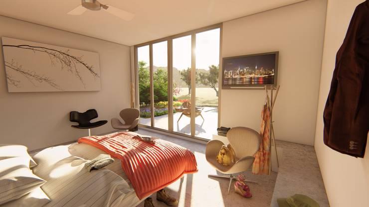Dormitorio Principal: Dormitorios de estilo  por Sinapsis Estudio,