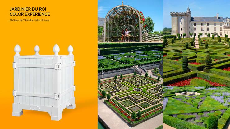 Jardinier du Roi, White Versailles planter box for Chateau de Villandry, France:  Garden  by Jardinier du Roi
