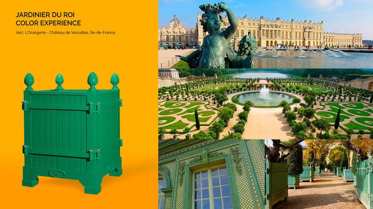 Jardinier du Roi, Versailles planters, color Green Chateau de Versailles, France:  Garden  by Jardinier du Roi