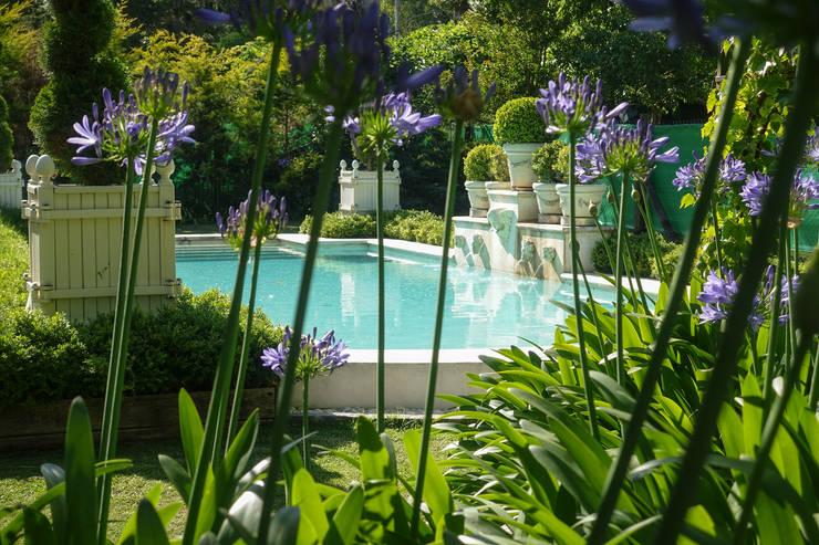 Jardinier du Roi, Versailles planters, pool project for Hotel Boutique Haras de Charme, Buenos Aires, Argentina:  Garden  by Jardinier du Roi
