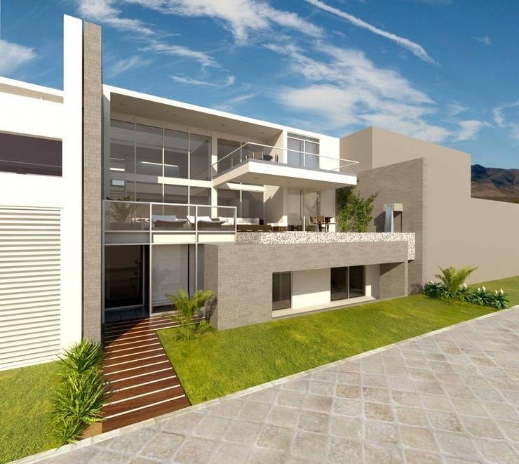 Casa T - Lomas del Mar: Casas unifamiliares de estilo  por bvtarquitecto