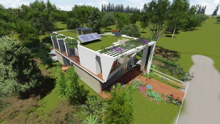 """Casa en """"Rifugio Nel Lago"""": Casas de campo de estilo  por Sinapsis Estudio,"""