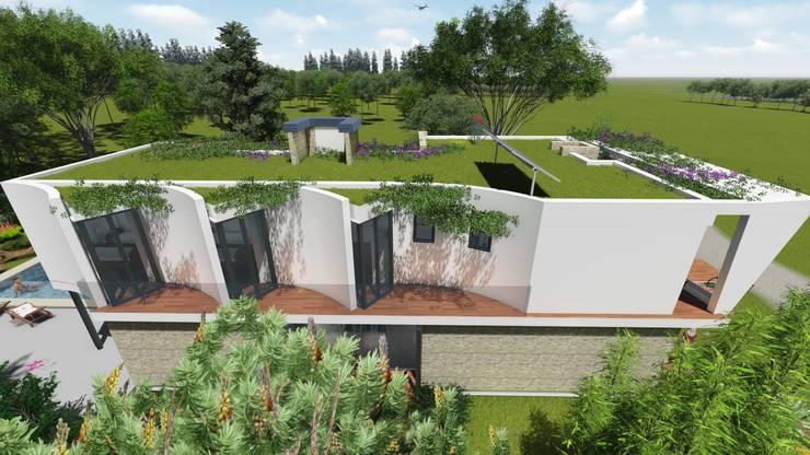 Casa en <q>Rifugio Nel Lago</q>: Casas prefabricadas de estilo  por Sinapsis Estudio,