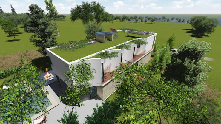 Casa en <q>Rifugio Nel Lago</q>: Casas ecológicas de estilo  por Sinapsis Estudio,