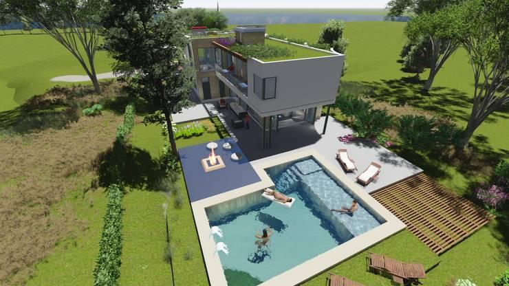 Casa en <q>Rifugio Nel Lago</q>: Casas de campo de estilo  por Sinapsis Estudio,