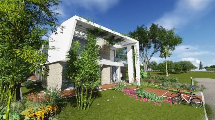 Casa en <q>Rifugio Nel Lago</q>: Casas unifamiliares de estilo  por Sinapsis Estudio,
