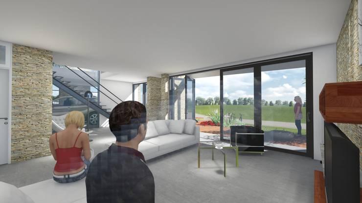 Casa en <q>Rifugio Nel Lago</q>: Livings de estilo  por Sinapsis Estudio,