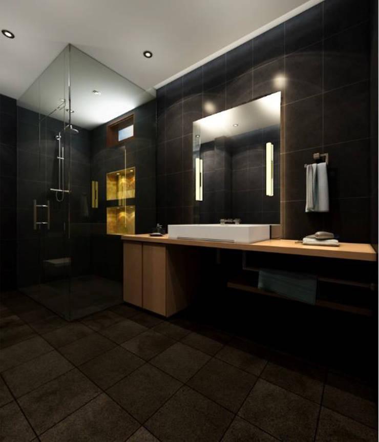 Suneja Residence Interior Design:  Bathroom by Rhomboid Designs