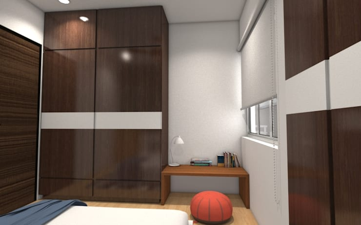Kids Bedroom:  Bedroom by Rhomboid Designs
