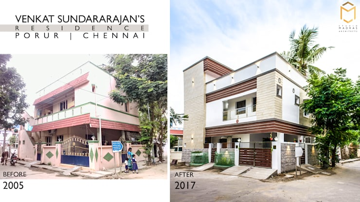 Venkat Sundararajan's Residence - Before & After:   by Studio Madras Architects