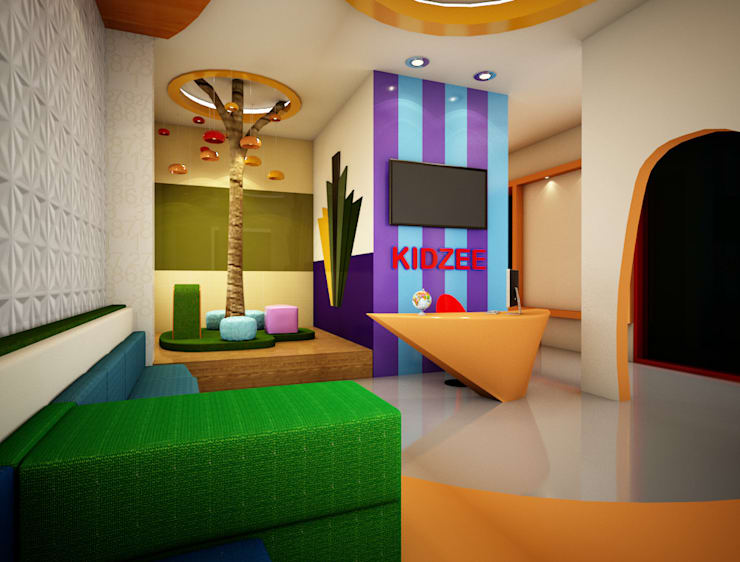 Reception / Kids Play Area:  Schools by Rhomboid Designs