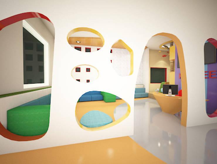Reception Entrance:  Schools by Rhomboid Designs