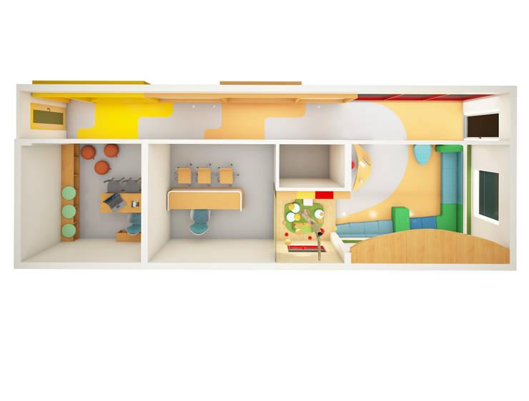 Rendered Plan:  Schools by Rhomboid Designs