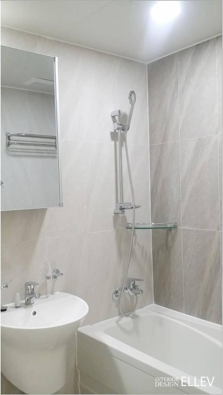 부산 해운대구 좌동 아파트 인테리어: 엘레브 디자인의  욕실