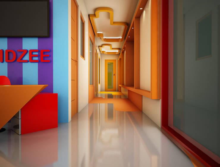 Reception / Corridor :  Schools by Rhomboid Designs