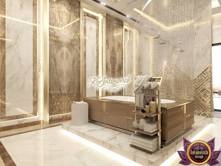 Perfect comfort in interiors Katrina Antonovich:  Bathroom by Luxury Antonovich Design