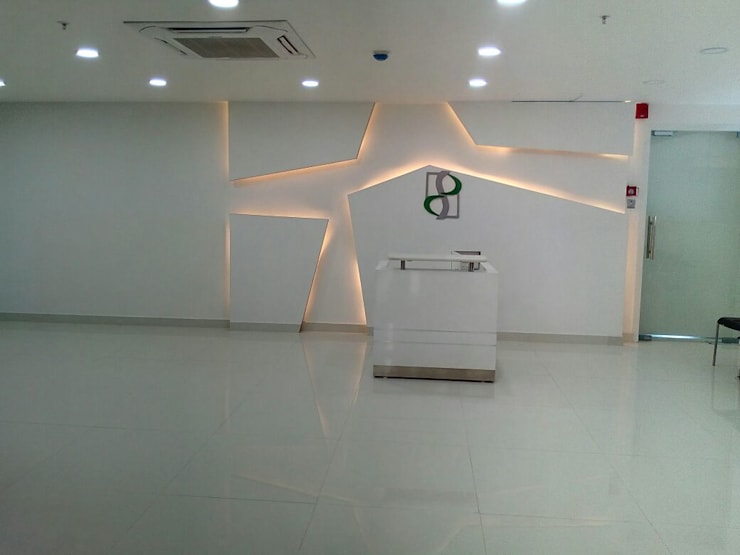 Reception:  Artwork by Interior Axis India Pvt,Ltd