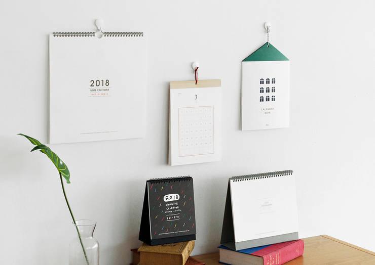 2018 노트 캘린더, 벽걸이용: 디자인 스튜디오 이널의 현대 ,모던